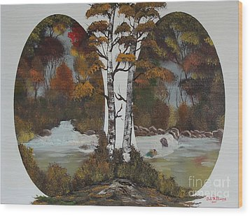 Doubling The Autumn Splendor Wood Print by Bob Williams