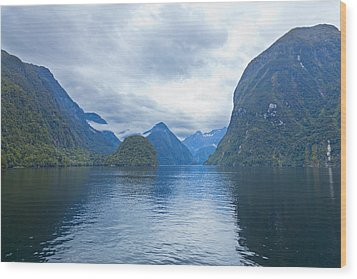 Doubtful Sound Reflections Wood Print by Alexey Stiop