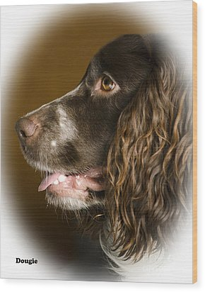 Dougie The Cocker Spaniel 2 Wood Print by Linsey Williams