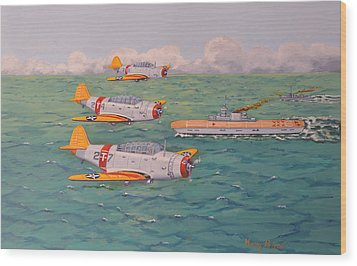 Wood Print featuring the painting Douglas Devastators by Murray McLeod