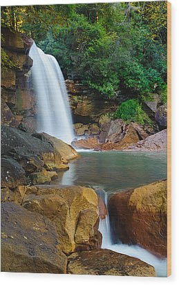 Wood Print featuring the photograph Douglas Falls by Tyson and Kathy Smith
