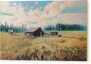 Douglas Lake Ranch  Wood Print