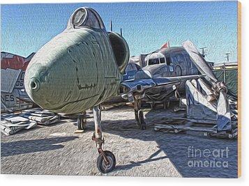 Douglas Skyhawk A-4b Wood Print by Gregory Dyer