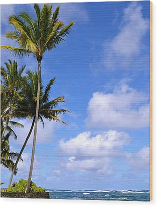 Wood Print featuring the photograph Down By The Ocean In Hawaii by Lehua Pekelo-Stearns