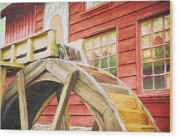 Down By The Old Mill Wood Print by Jeffrey Kolker