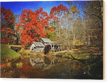 Down By The Old Mill Stream  Wood Print by Lynn Bauer