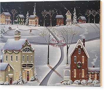 Down Home Christmas Wood Print by Catherine Holman