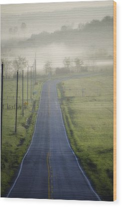 Down Roads Unknown Wood Print by Bill Cannon