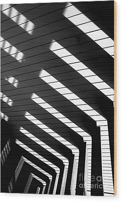 Down Stairs Wood Print