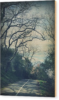 Down That Path Wood Print by Laurie Search