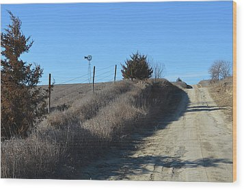 Down The Country Road Wood Print by Renie Rutten