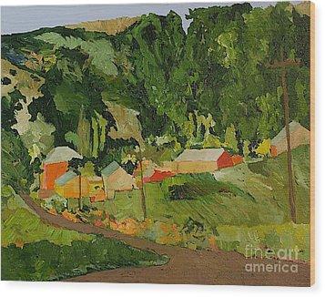 Down The Road Wood Print by Allan P Friedlander