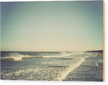 Down The Shore - Seaside Heights Jersey Shore Vintage Wood Print