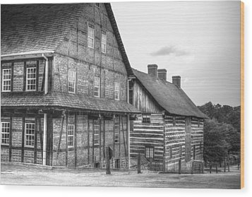 Down The Street In Old Salem Wood Print by Diego Re