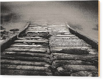Wood Print featuring the photograph Down To The Water by Arkady Kunysz