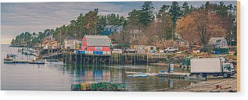 Downeast Wood Print by Guy Whiteley