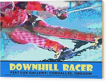 Downhill Racer Wood Print by Michael Moore