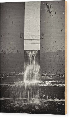 Downspout Wood Print by Rudy Umans