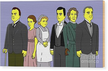 Downton Abbey - Downstairs 6 Wood Print by Donna Huntriss