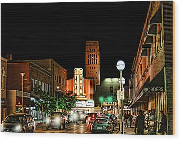 Downtown Ann Arbor Wood Print