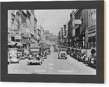 Downtown Bristol Va Tn 1931 Wood Print