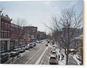 Wood Print featuring the photograph Downtown Brockport IIi by Courtney Webster