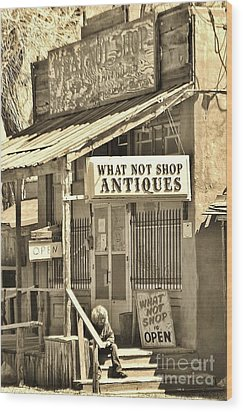 Downtown Cerrillos Wood Print by William Wyckoff