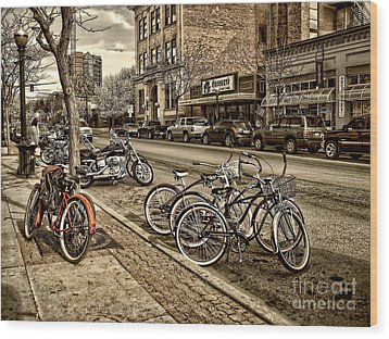 Downtown Coeur D'alene Idaho Wood Print by Scarlett Images Photography