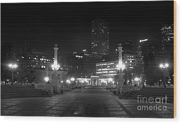 Downtown Denver Wood Print