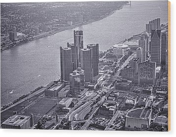 Downtown Detroit Wood Print by Nicholas  Grunas