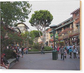 Downtown Disney Anaheim - 12128 Wood Print by DC Photographer