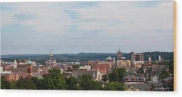 Downtown Dubuque Wood Print