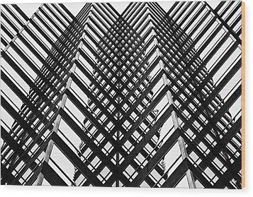 Downtown High Rise Wood Print by Scott Pellegrin