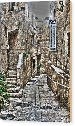 Wood Print featuring the photograph Downtown In Jerusalems Old City by Doc Braham