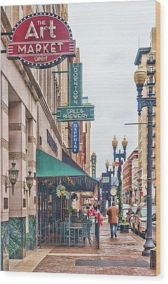 Downtown Knoxville Wood Print