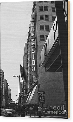 Wood Print featuring the photograph Downtown La - Mid '70's by Doc Braham