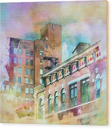 Downtown Living In Color Wood Print