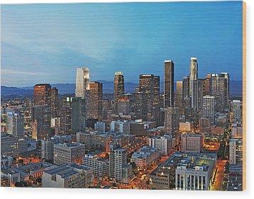 Downtown Los Angeles Wood Print by Kelley King