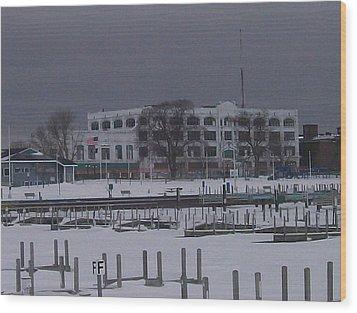 Wood Print featuring the photograph Downtown Menominee by Jonathon Hansen
