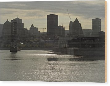 Downtown Montreal Wood Print by Eric Soucy