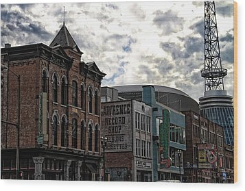 Downtown Nashville Wood Print by Dan Sproul