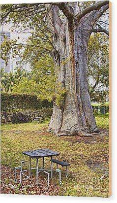 Downtown Old Tree Wood Print by Eyzen M Kim