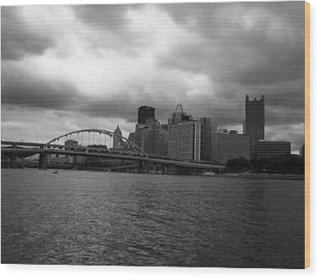 Downtown Pittsburgh Wood Print by Joyce  Wasser