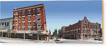 Downtown Pomona - 03 Wood Print by Gregory Dyer