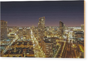 Downtown San Diego Wood Print by Alex Weinstein
