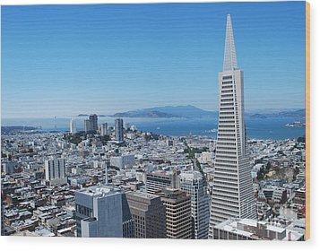 Downtown San Francisco Wood Print