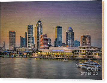Downtown Tampa Wood Print by Marvin Spates