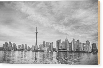 Wood Print featuring the photograph Downtown Toronto Skyline by Anthony Rego