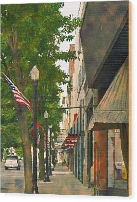 Downtown Usa Wood Print by Denise Beverly