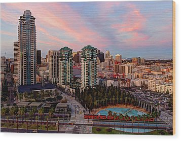 Wood Print featuring the photograph Downtown View San Diego by Heidi Smith